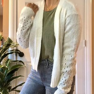 Wooden Ships | White Cozy Knit Open Cardigan
